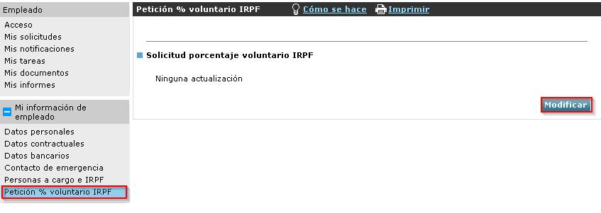 Petición % voluntario IRPF